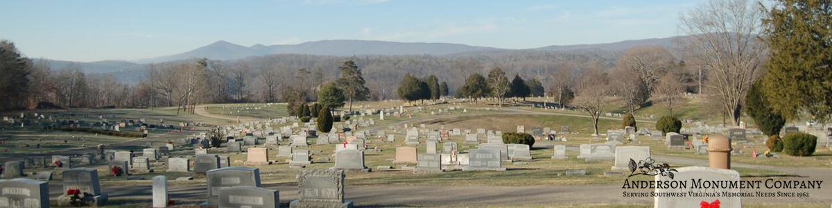 Anderson Monument Company Clifton Forge Va. Cedar Hill Cemetery Covington Va